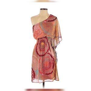 One shoulder bisou bisou dress